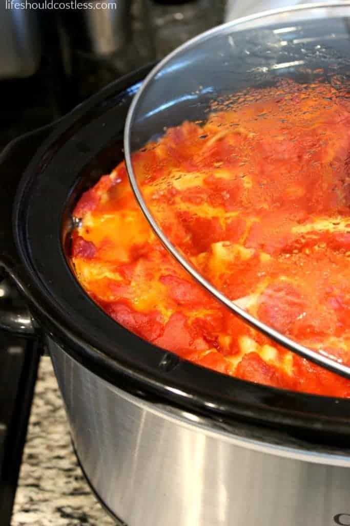 Slow Cooker Deep Dish Lasagna