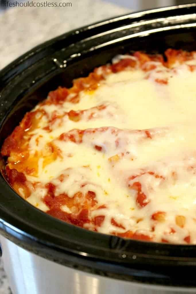 Slow Cooker Deep Dish Lasagna