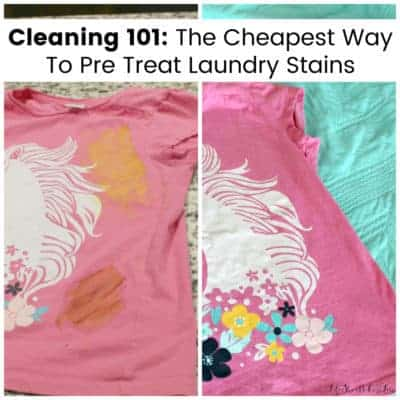 Cleaning 101: The Cheapest Way To Pre Treat Laundry Stains {With Video}