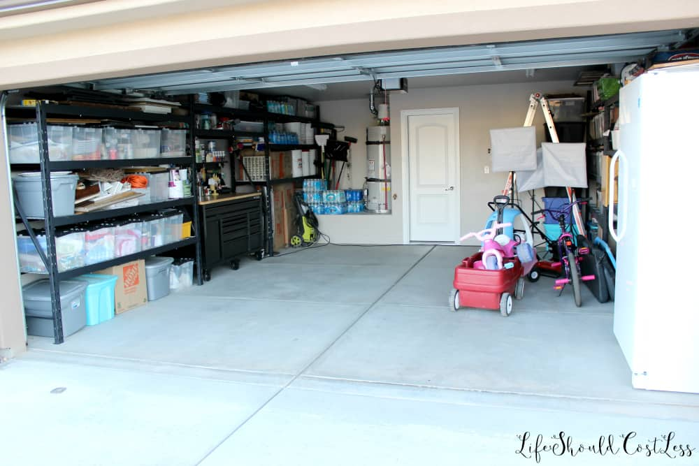garage along with the kids toys and i now have an easy organized way to access all of our stuff and can even fit my car in there whenever i want to - Garage Organization