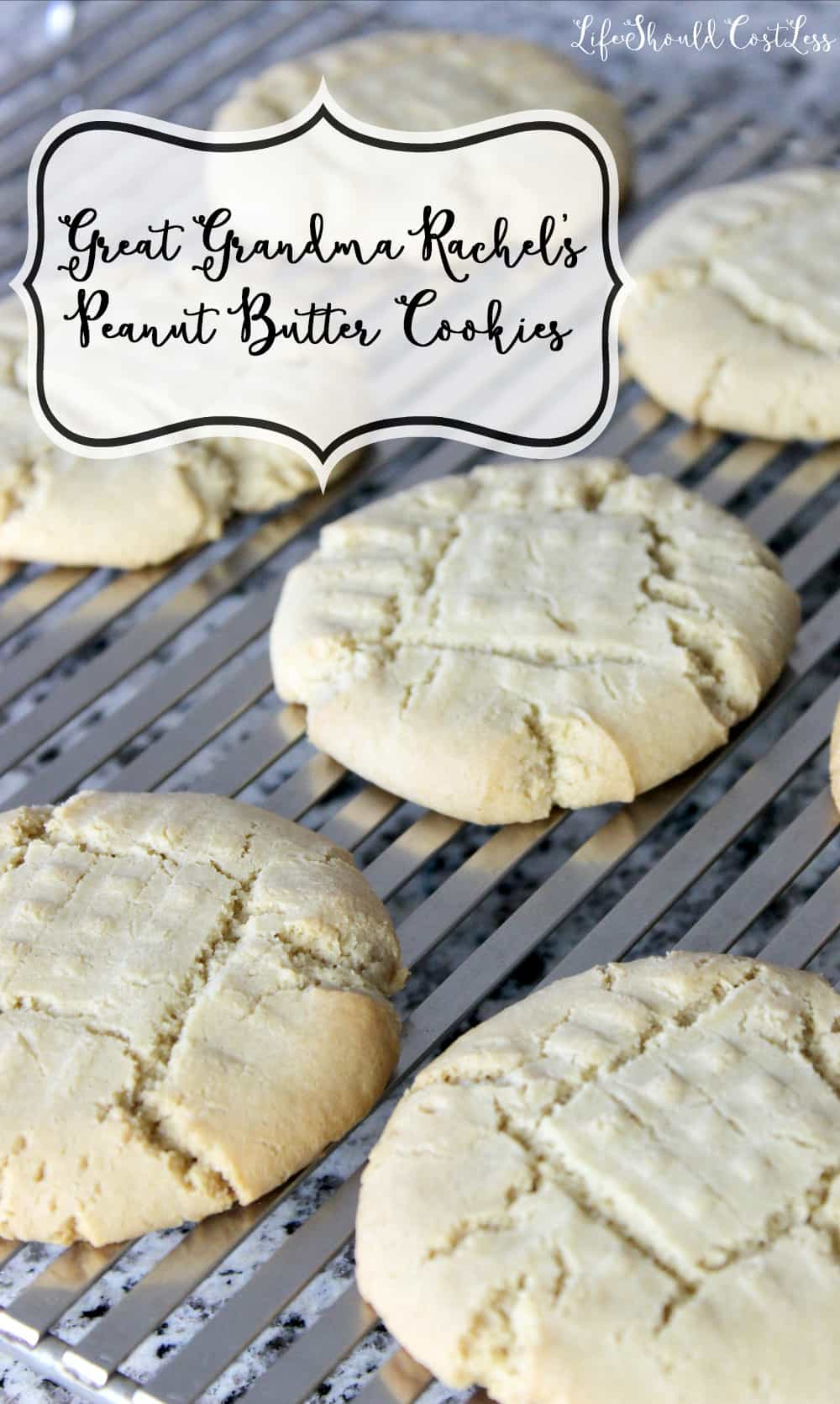 Great Grandma Rachel\'s Peanut Butter Cookies - Life Should Cost Less