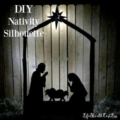 DIY Nativity Silhouette Yard Decor