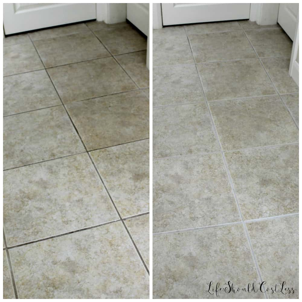 How to clean grout with water the easiest way to clean grout ever i am so grateful to have found a way of cleaning grout that doesnt leave me practically crippled the next day because i spend maybe 14th as much time dailygadgetfo Choice Image