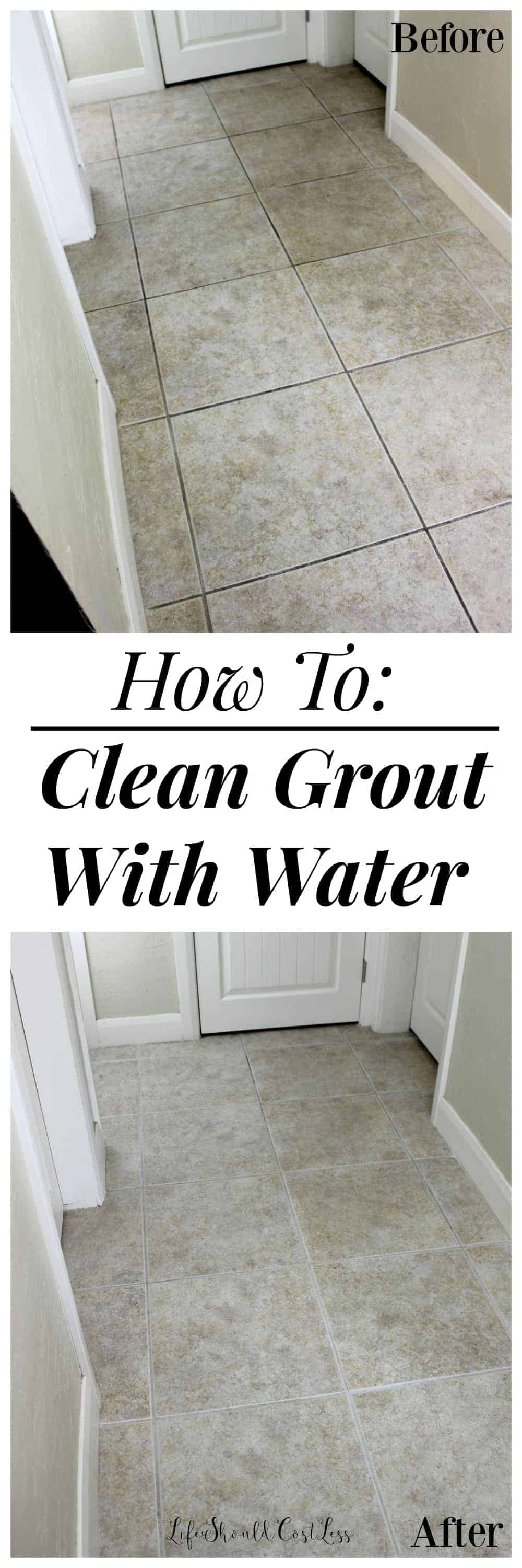 How to clean grout with water the easiest way to clean grout ever that to me is a winwinhello a cheap and non toxic way to clean grout it is more than worth sharing with all of my readers too dailygadgetfo Image collections
