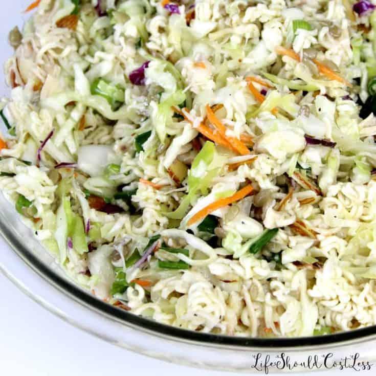 Coleslaw Ramen Chicken Salad