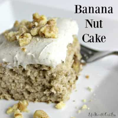 Banana Nut Cake With Sour Cream Frosting