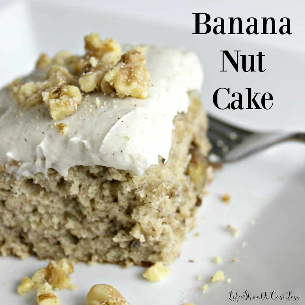Banana Nut Cake With Sour Cream Frosting Life Should