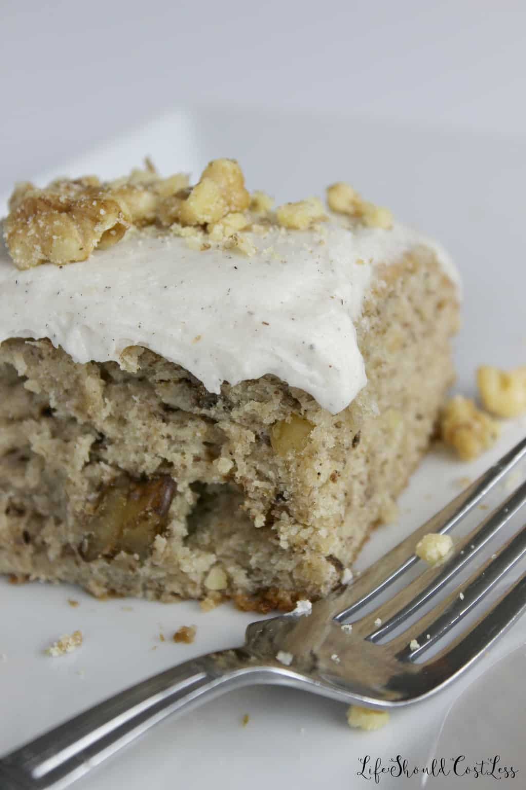 Banana Cake With Sour Cream And Walnuts