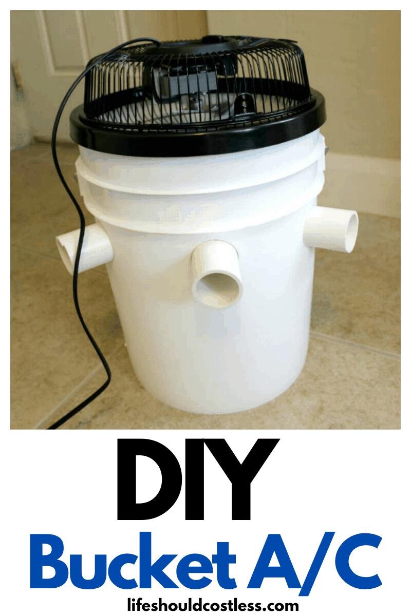 DIY Bucket Air Conditioner. lifeshouldcostless.com
