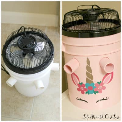How To Make A Five Gallon Bucket A/C Unit {with option to make a cute one too}.