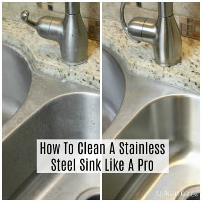 How To Clean A Stainless Steel Sink Like A Pro{Cleaning 101}