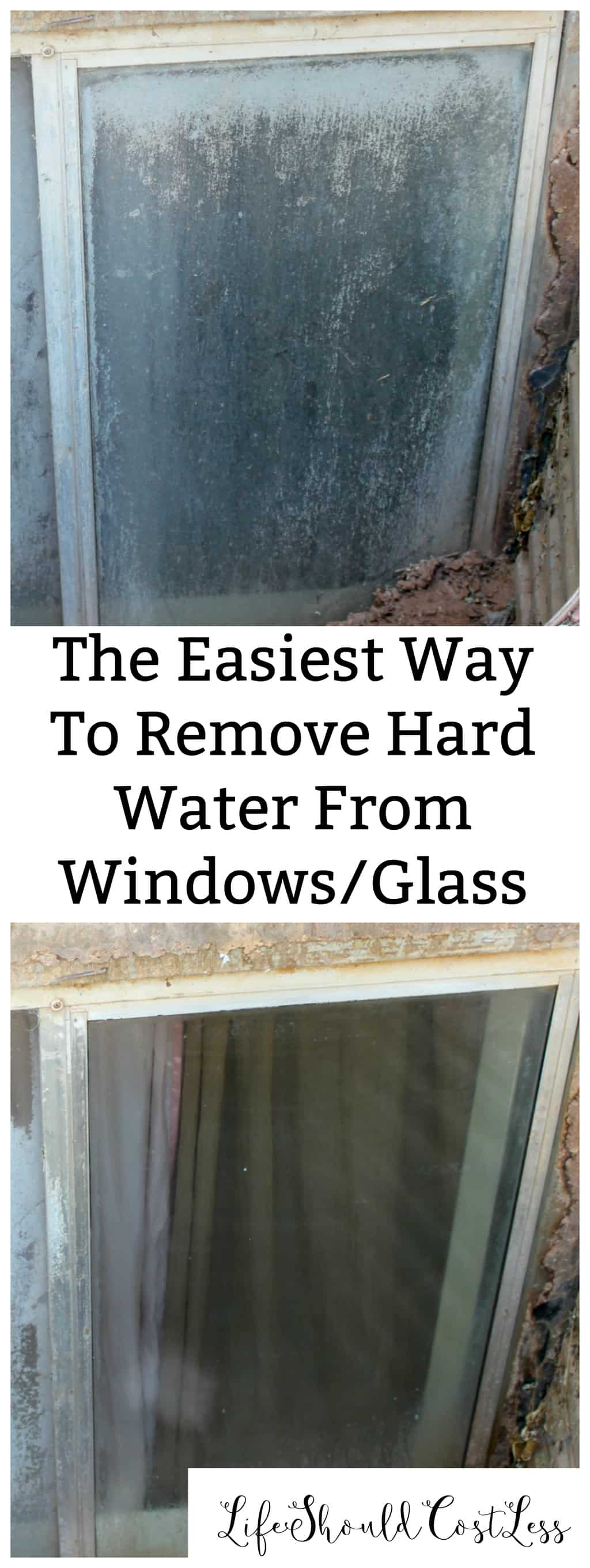 The Easiest Way To Remove Hard Water From Windows/Glass. {lifeshouldcostless.com}