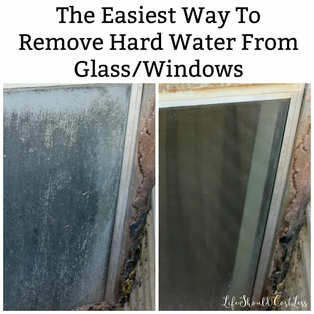 The Easiest Way To Clean Hard Water Off Of Windows/Glass - Life ...
