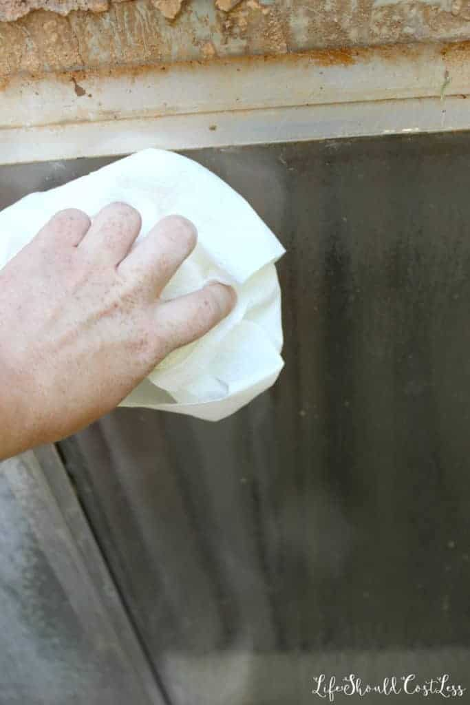 The easiest way to remove hard water from windows.