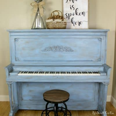 Upright Piano After Chalky Paint Make-Over: The Reveal