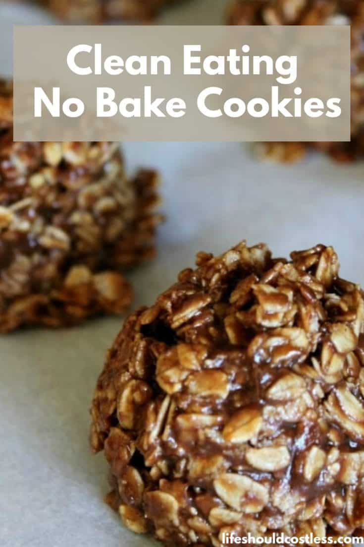 The best clean eating no bake cookies recipe made with real ingredients. lifeshouldcostless.com