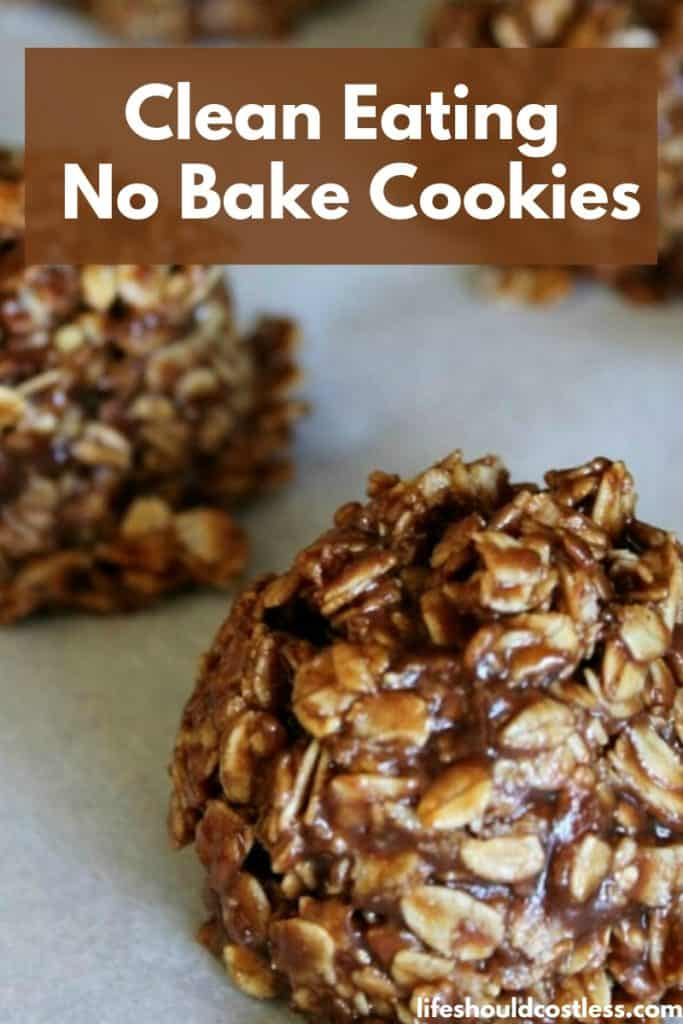 Clean Eating No Bake Cookies recipe. They're so good, they're basically just chocolate peanut butter energy balls. lifeshouldcostless.com
