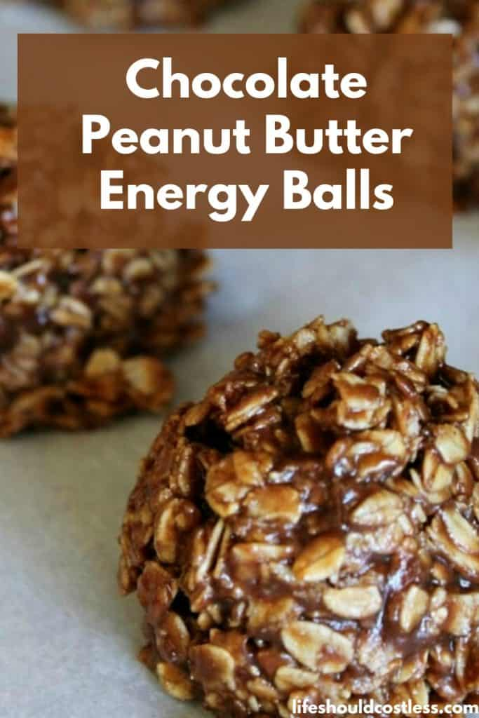 Chocolate Peanut Butter Energy Balls...aka clean eating no bake cookies recipe. lifeshouldcostless.com