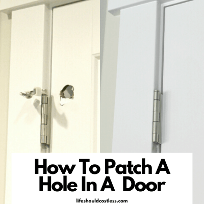 how to patch a door