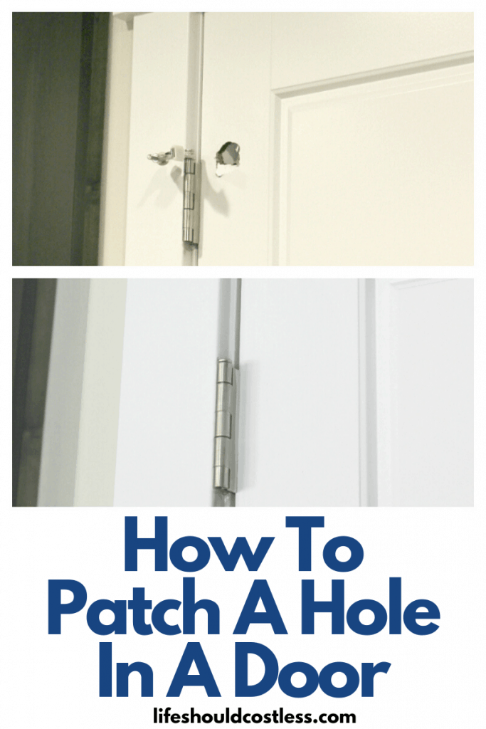 Learn how to repair a hole in a door. lifeshouldcostless.com