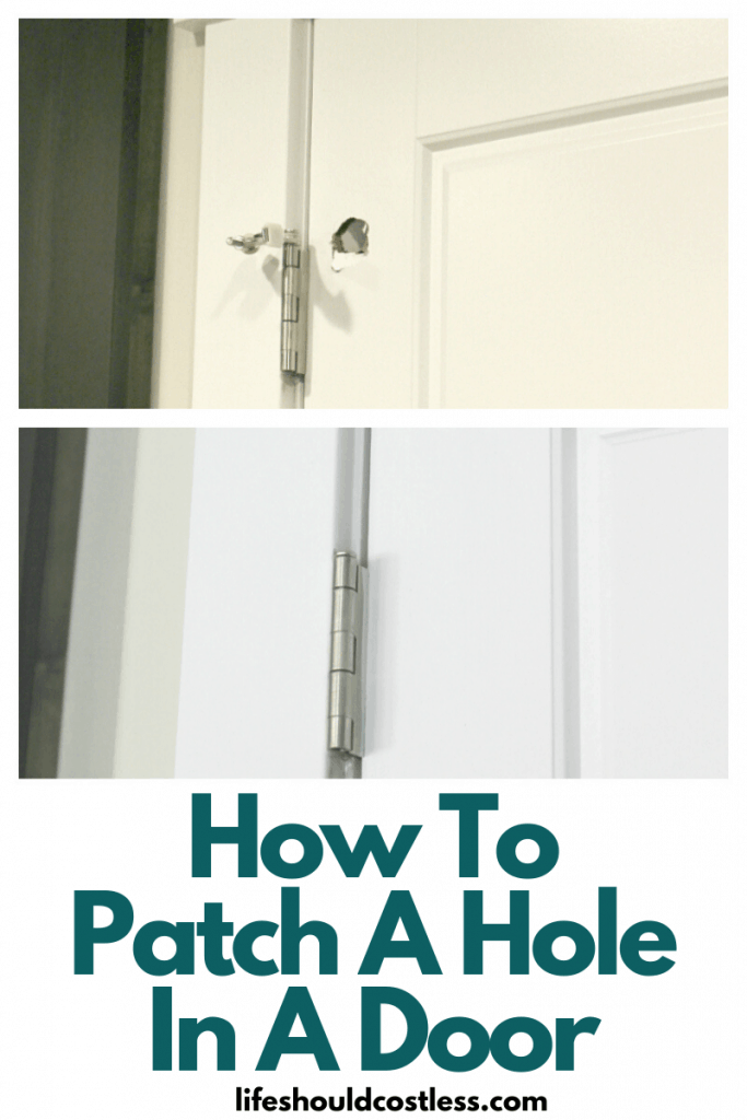 How to fix/patch a hole in a hollow door. lifeshouldcostless.com
