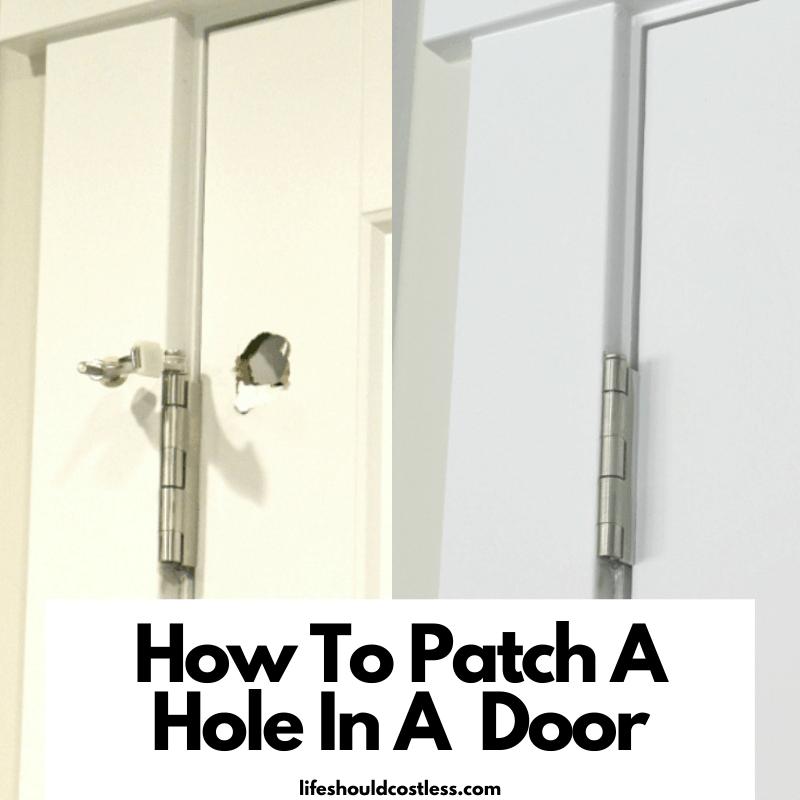 Door repair tutorial. lifeshouldcostless.com