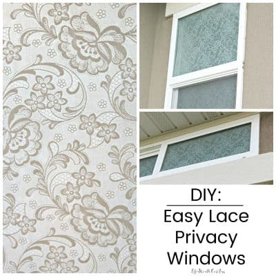 DIY: Easy Lace Privacy Windows