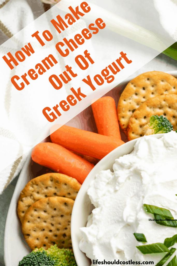 Using greek yogurt instead of cream cheese. lifeshouldcostless.com