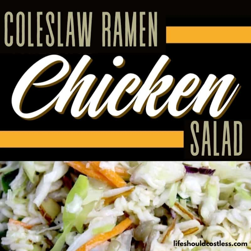 oriental chicken salad with ramen noodles and coleslaw