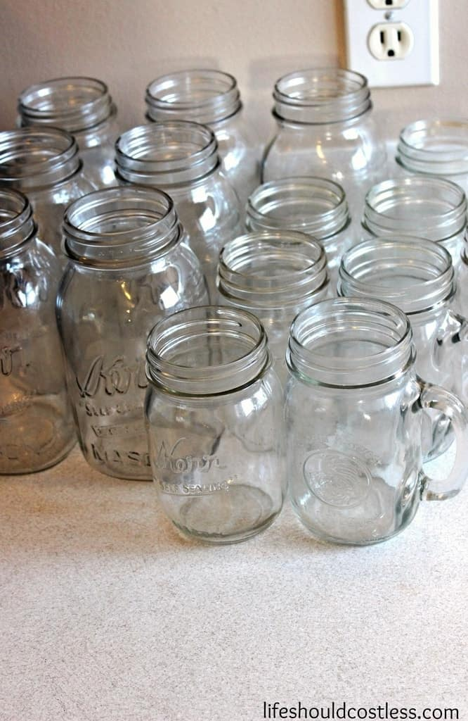 best canning tip for cleaning mason canning jars. lifeshouldcostless.com