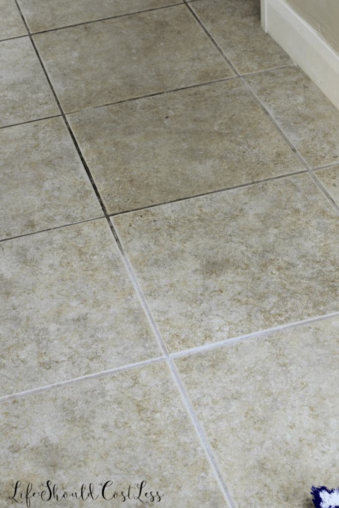 How to clean floor and counter top tile grout. lifeshouldcostless.com