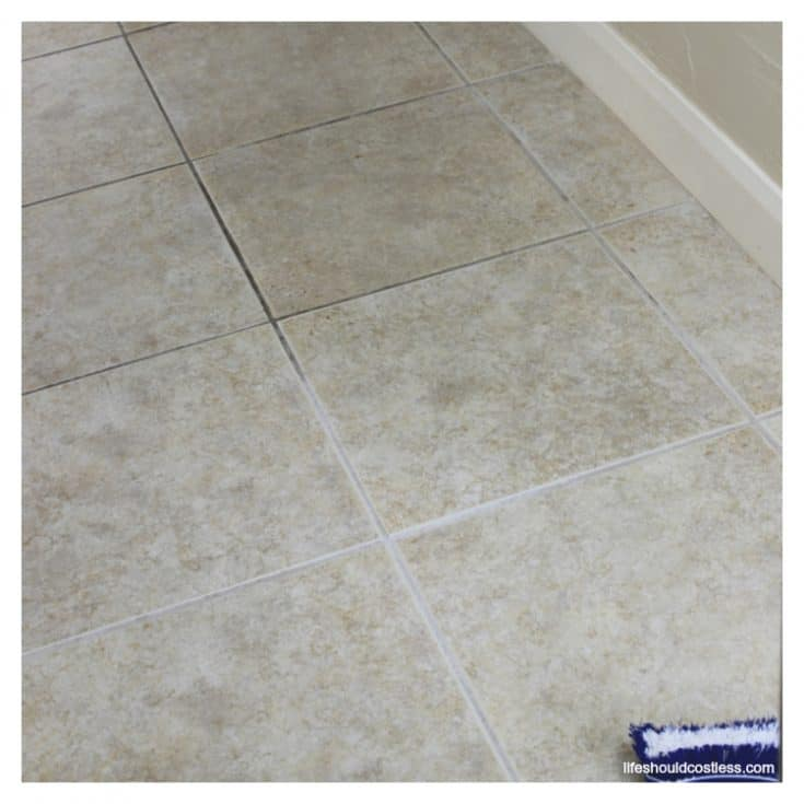 How To Clean Grout {the cheapest and easiest way}