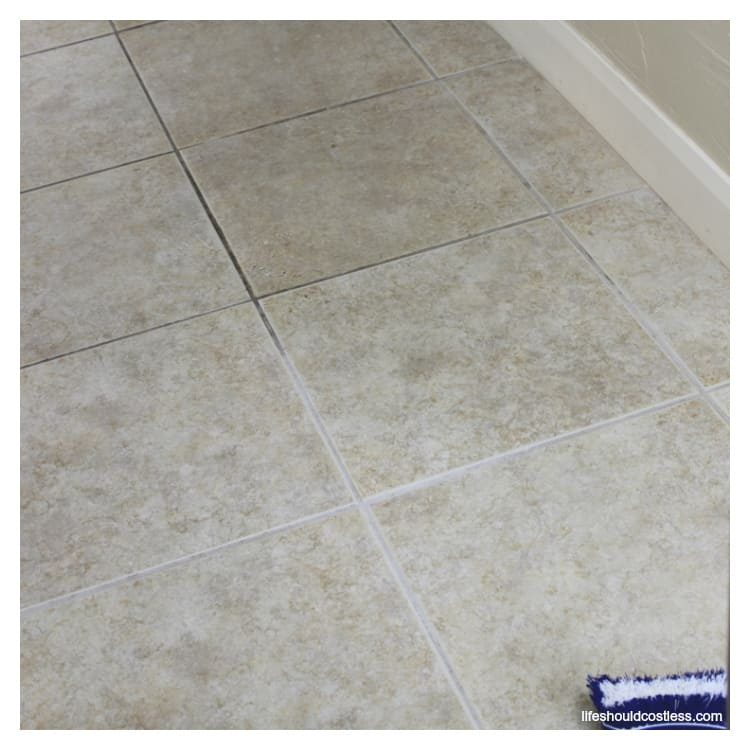Learn how to clean grout & tile with minimal scrubbing. lifeshouldcostless.com
