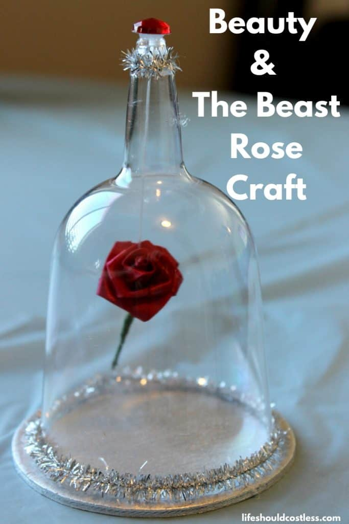 Beauty and the beast floating rose diy craft. lifeshouldcostless.com
