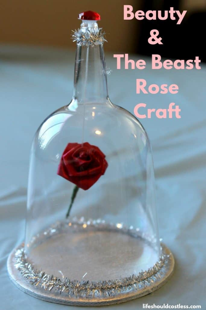 Beauty and the beast craft activities...rose in glass case. Perfect for a party craft idea. lifeshouldcostless.com
