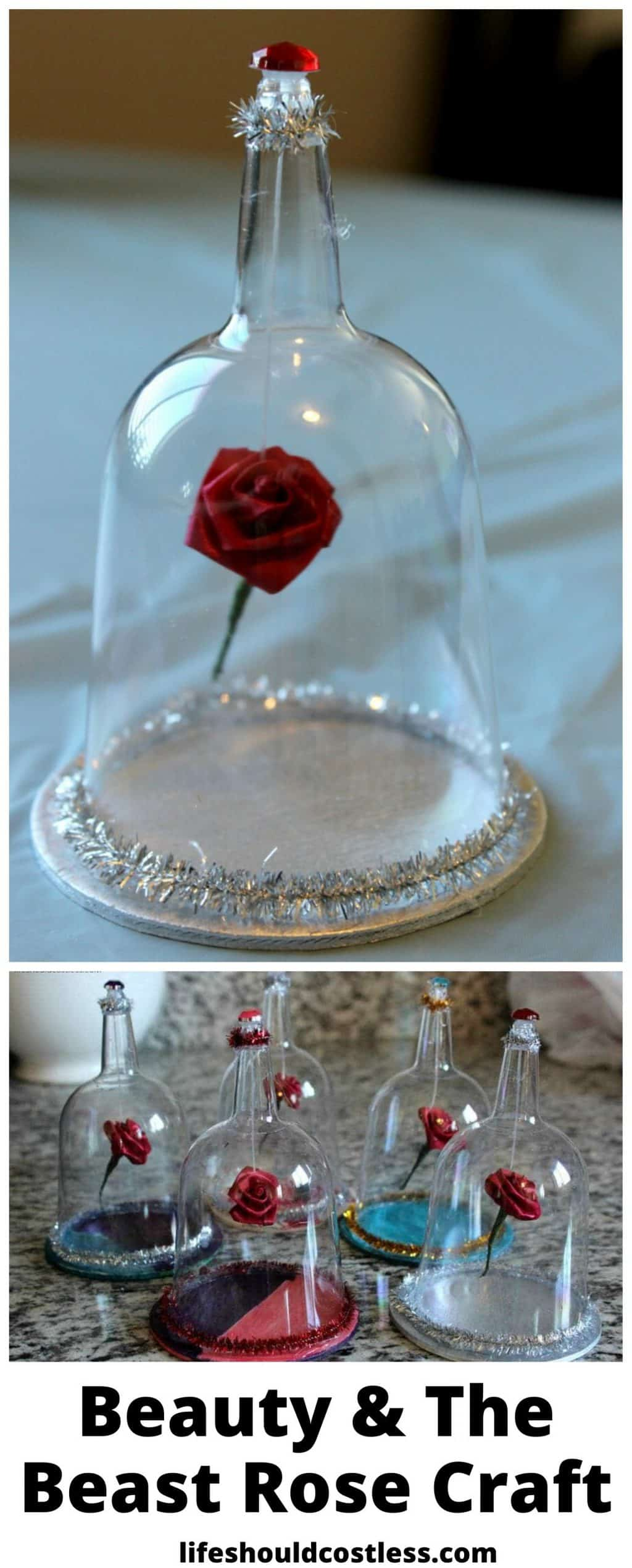 Beauty and the beast rose craft. lifeshouldcostless.com