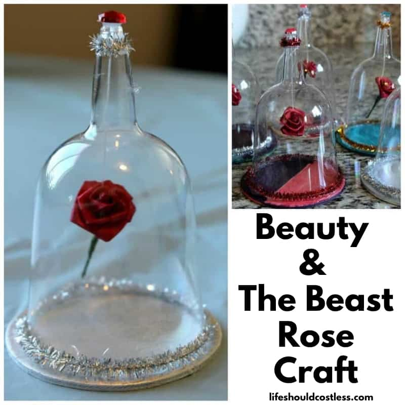 Beauty and the beast floating rose and case arts and crafts project. lifeshouldcostless.com