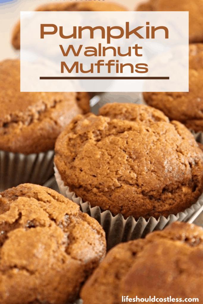 Easy Pumpkin nut muffin recipe