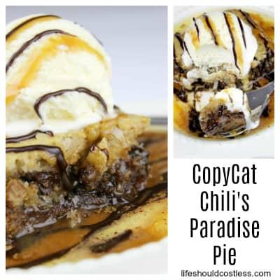Copycat Chili's Paradise Pie