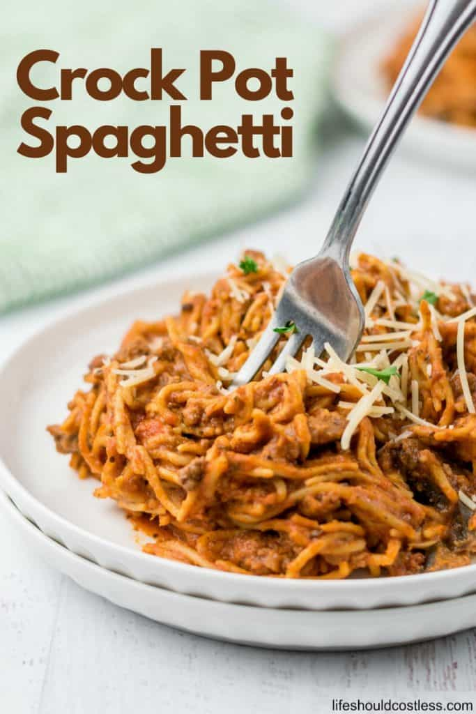 How to make spaghetti in a crock pot. lifeshouldcostless.com