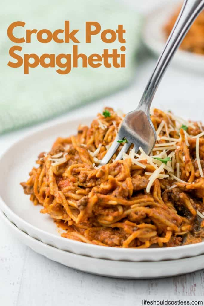 How to cook spaghetti in a crock pot. lifeshouldcostless.com