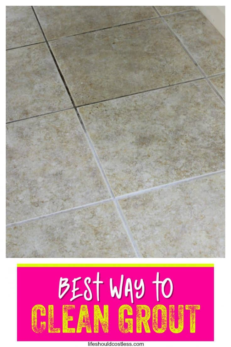 How to clean grout. The cheapest and easiest way to clean tile grout for floors or counter tops. lifeshouldcostless.com