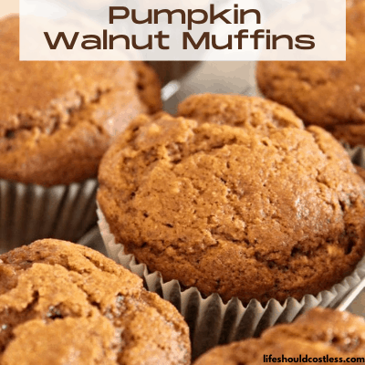 Healthy Pumpkin Walnut Muffins. lifeshouldcostless.com