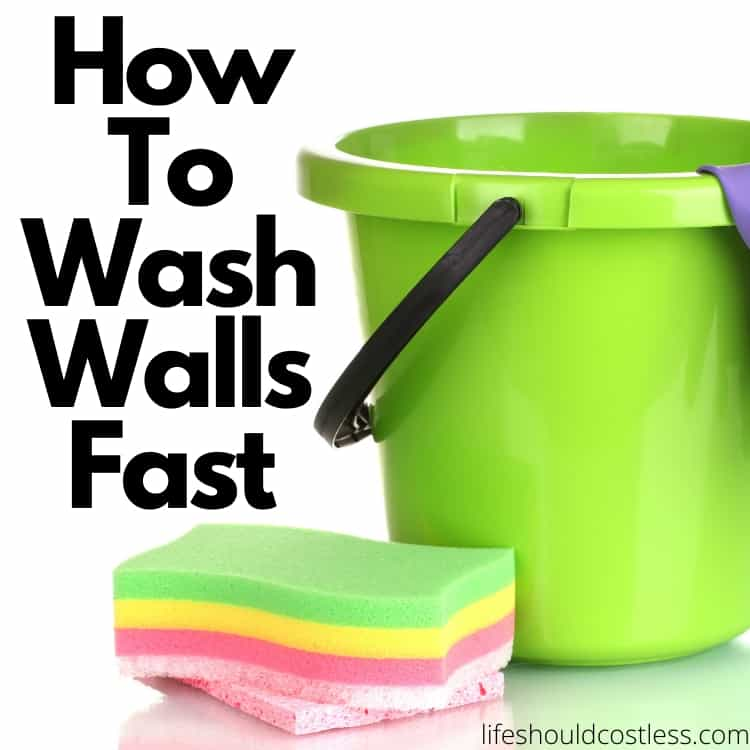 How to disinfect and wash walls. lifeshouldcostless.com
