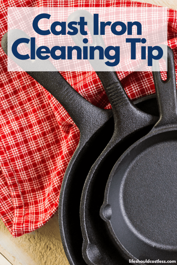 How to remove food stuck on cast iron. The best cast iron cleaning tip. lifeshouldcostless.com