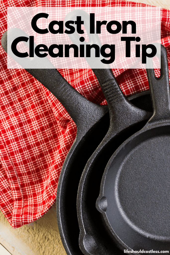 How to clean stuck on food from cast iron. lifeshouldcostless.com