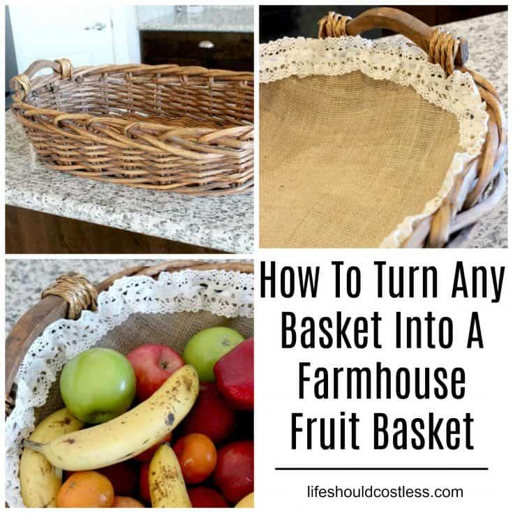 DIY Farmhouse Fruit Basket