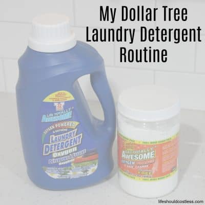 My Dollar Tree Laundry Detergent Routine