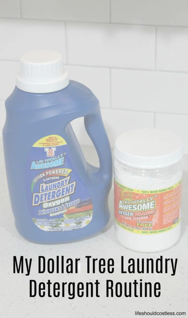 My Dollar Tree Laundry Detergent Routine - Life Should Cost Less