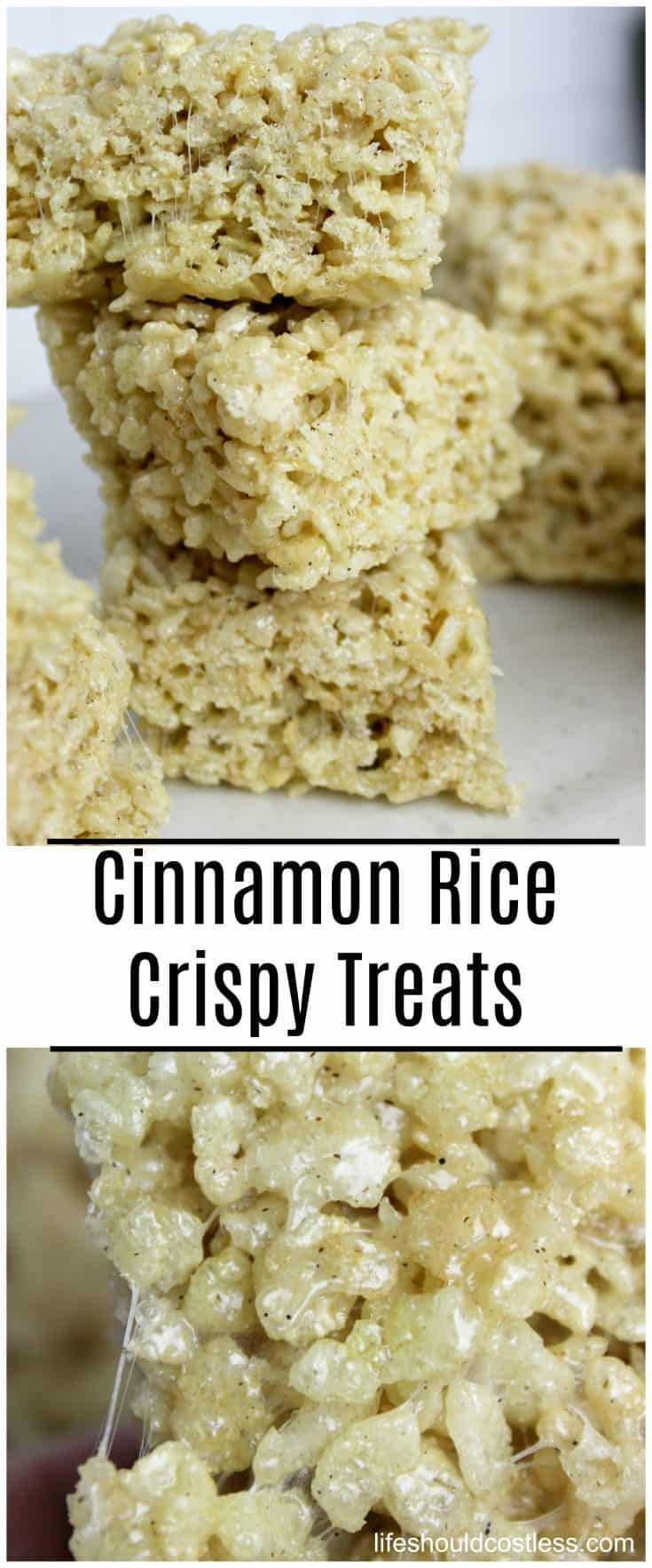 Cinnamon Rice Crispy Treats are THE best rice crispy treats I have ever tasted. A couple of simple changes to your old recipe, will make these your new favorite. lifeshouldcostless.com